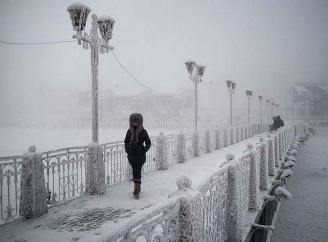 Existe uma cidade na Rússia chamada Yakutsk... e se você visita-la ...