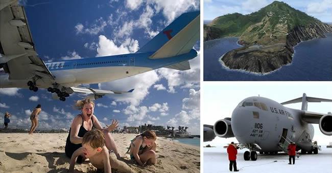 Os 8 aeroportos mais aterrorizantes do Planeta. O #5 é um ...