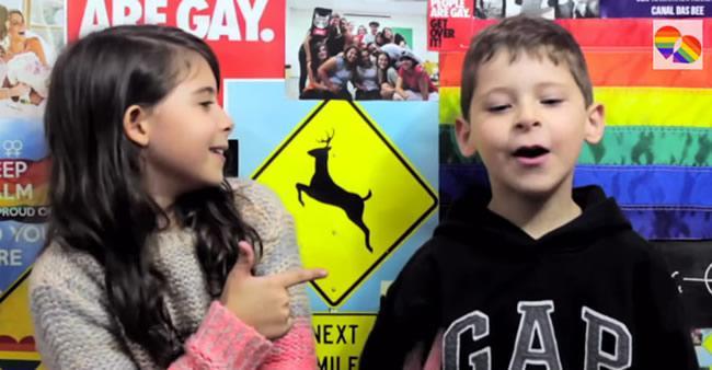 Perguntaram para 2 crianças como é ter um homossexual na família ...