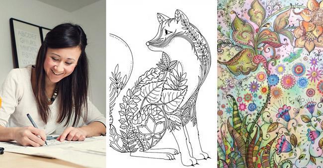 Ilustradora cria livro de colorir para adultos e vende mais de 1 ...