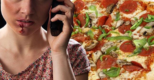 Mulher liga para polícia e pede uma pizza. Trote? Não, ela ...