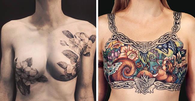 Artistas cobrem cicatrizes de câncer de mama com tatuagens ...