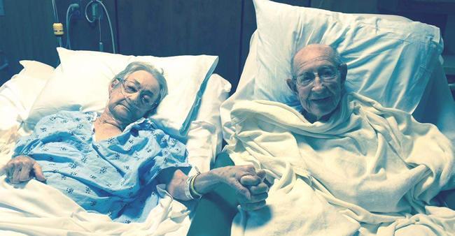 Esse casal não se separa há 50 anos e nem o hospital pôde fazer isso