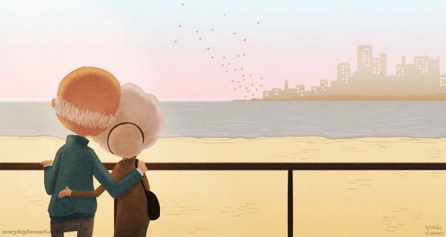 Ilustrações mostram que o amor está nos pequenos gestos... Você ...