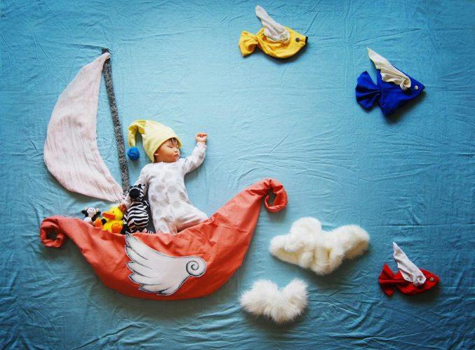 Mãe constrói mundo de fantasias enquanto seu filho dorme. Você ...