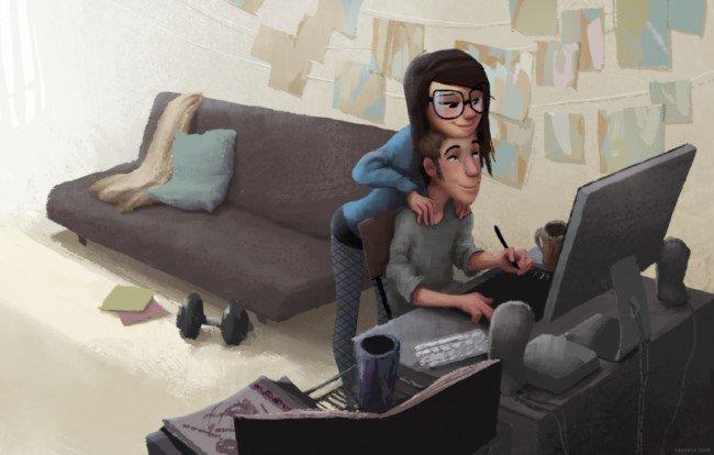 É amor quando... Veja 15 ilustrações emocionantes sobre o amor!