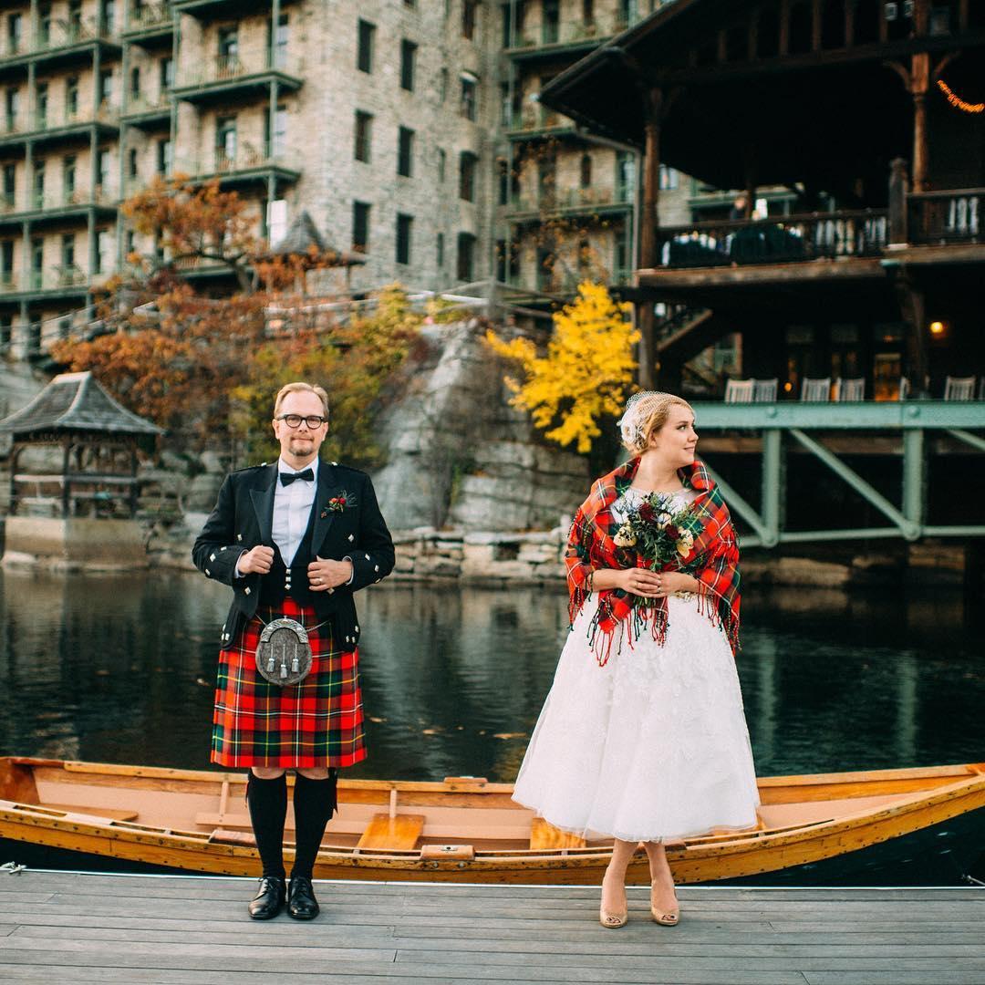 Trajes tradicionais de casamento na Escócia