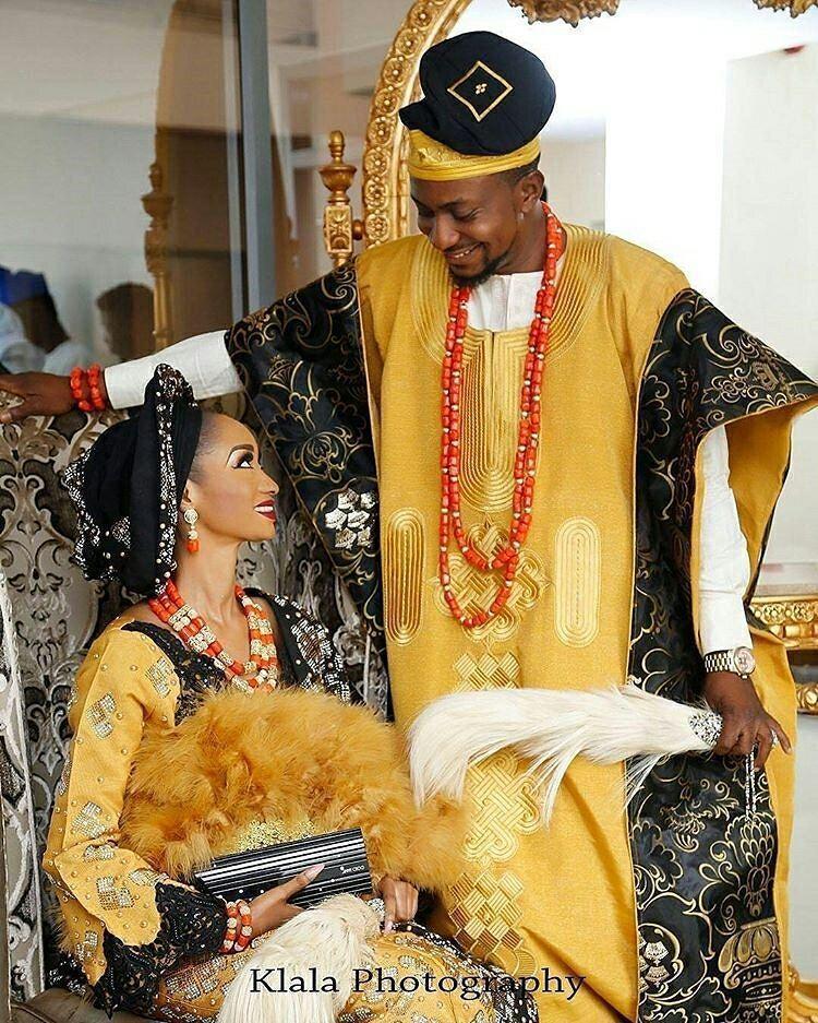 Trajes tradicionais de casamento na Nigéria