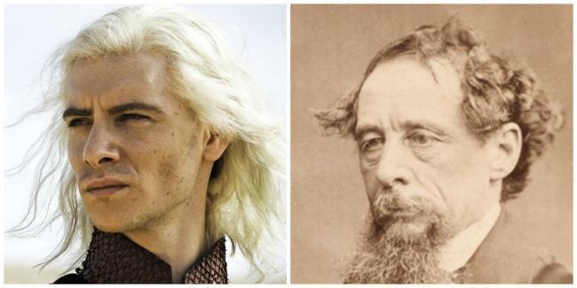 Viserys e ao lado Charles Dickens