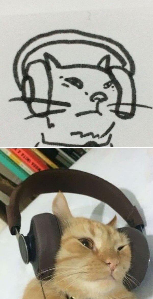 Desenhos de gatos (13)