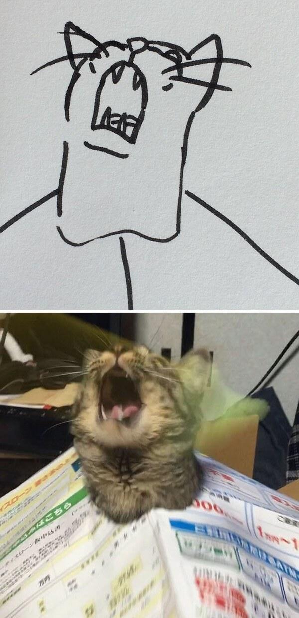 Desenhos de gatos (16)