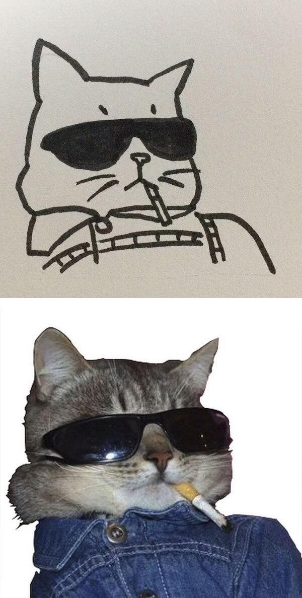 Desenhos de gatos (17)