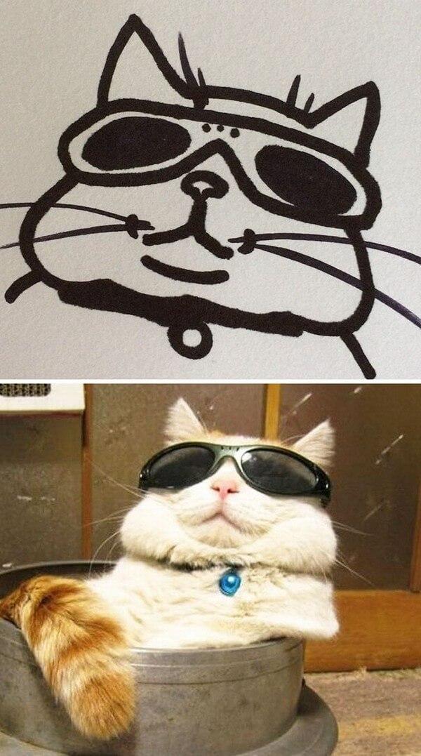 Desenhos de gatos (18)