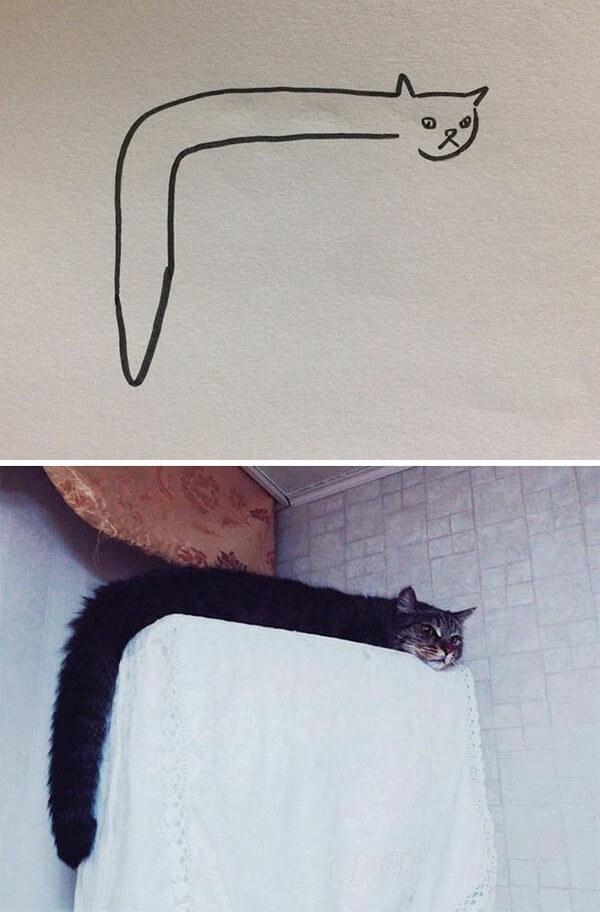 Desenhos de gatos (26)