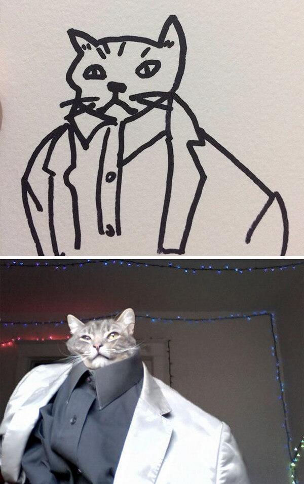 Desenhos de gatos (4)