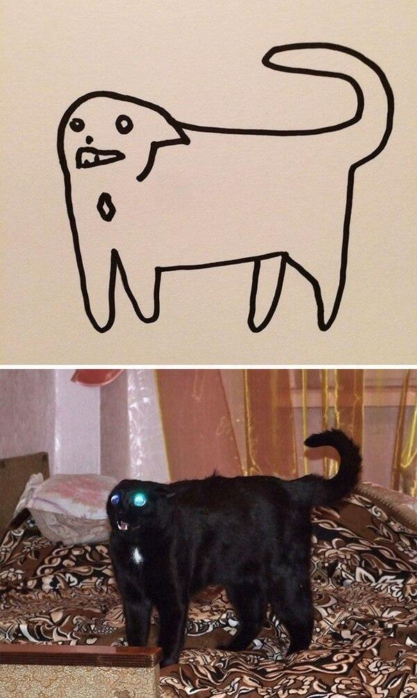 Desenhos de gatos (5)