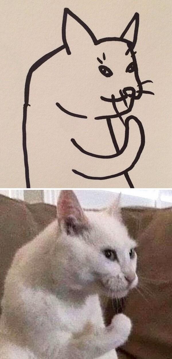 Desenhos de gatos (6)