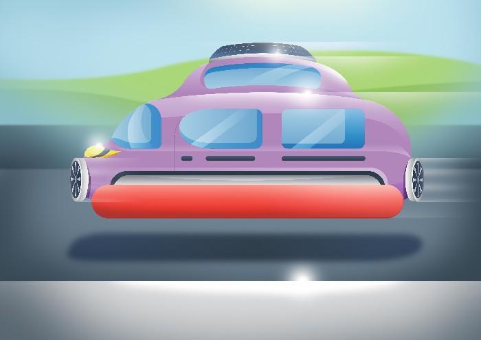 Carros do futuro desenhados por criança 10