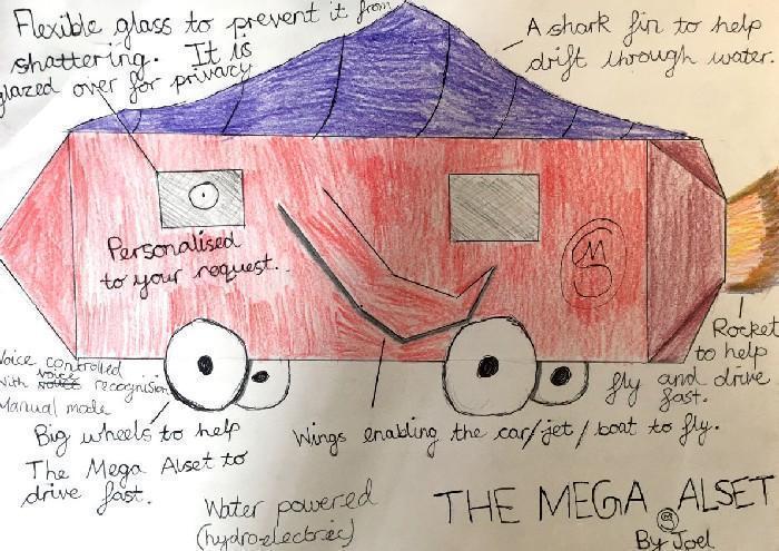 Carros do futuro desenhados por criança 11