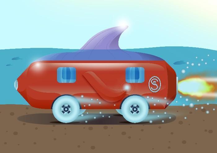 Carros do futuro desenhados por criança 12