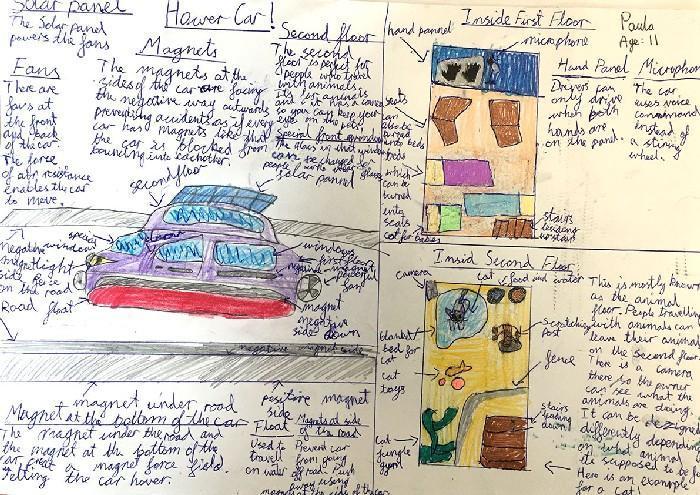 Carros do futuro desenhados por criança 9