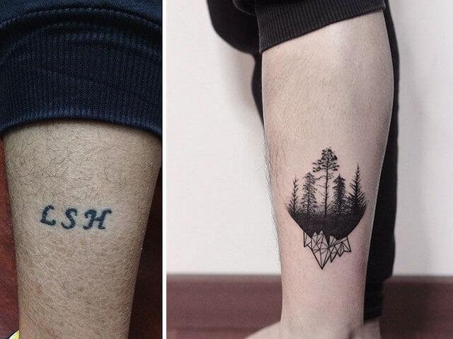 Extremamente As 28 melhores coberturas de tatuagens de pessoas arrependidas FW85