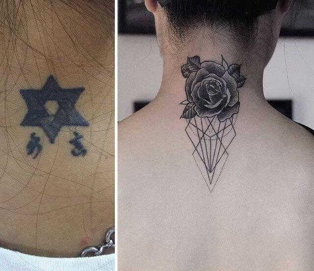Suficiente As 28 melhores coberturas de tatuagens de pessoas arrependidas KZ24