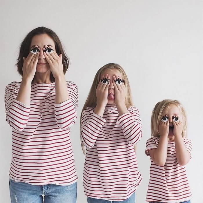 Mãe e filhas em fotos divertidas (10)