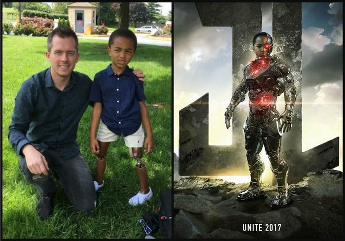 Crianças com necessidades especiais vestidas de super heróis 1