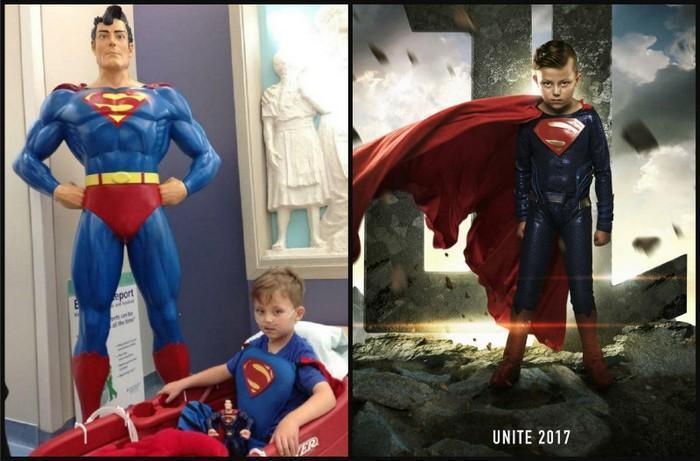 Crianças com necessidades especiais vestidas de super heróis 5