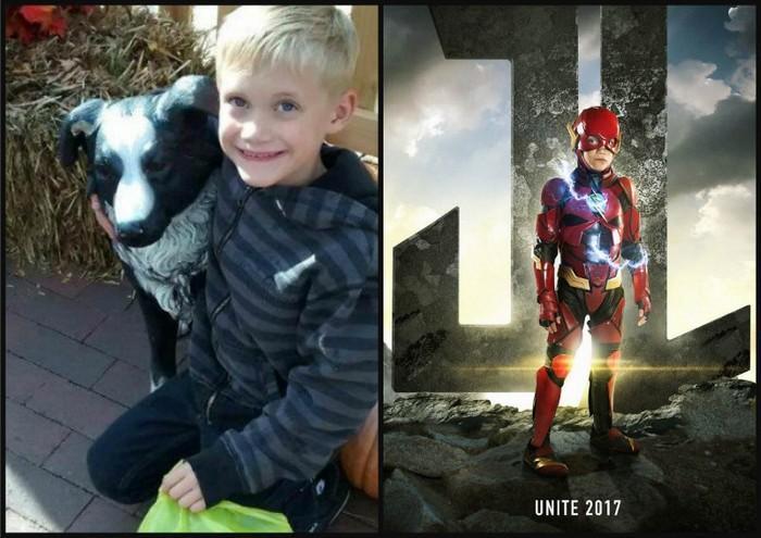 Crianças com necessidades especiais vestidas de super heróis 6