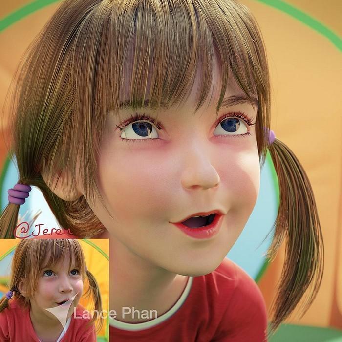 artista transforma pessoas em personagem 3D (2)