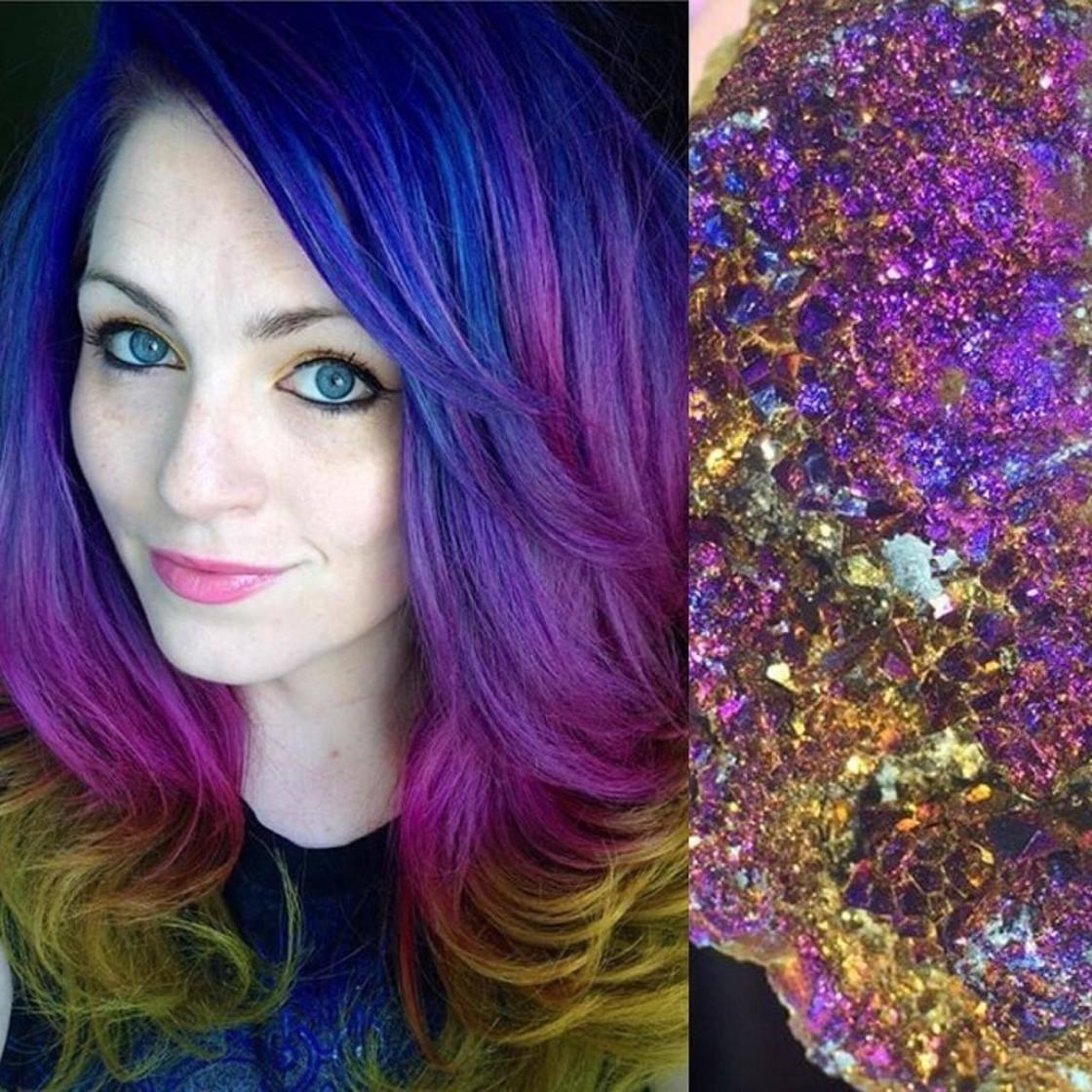Artista se inspira em imagens fantásticas para mudar a cor do cabelo 7