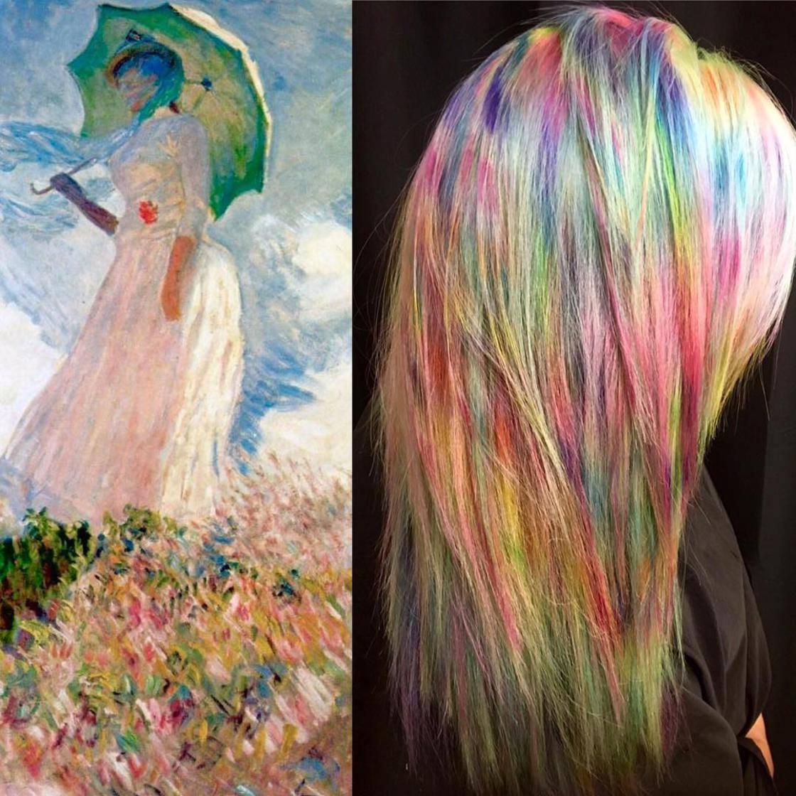 Artista se inspira em imagens fantásticas para mudar a cor do cabelo 8