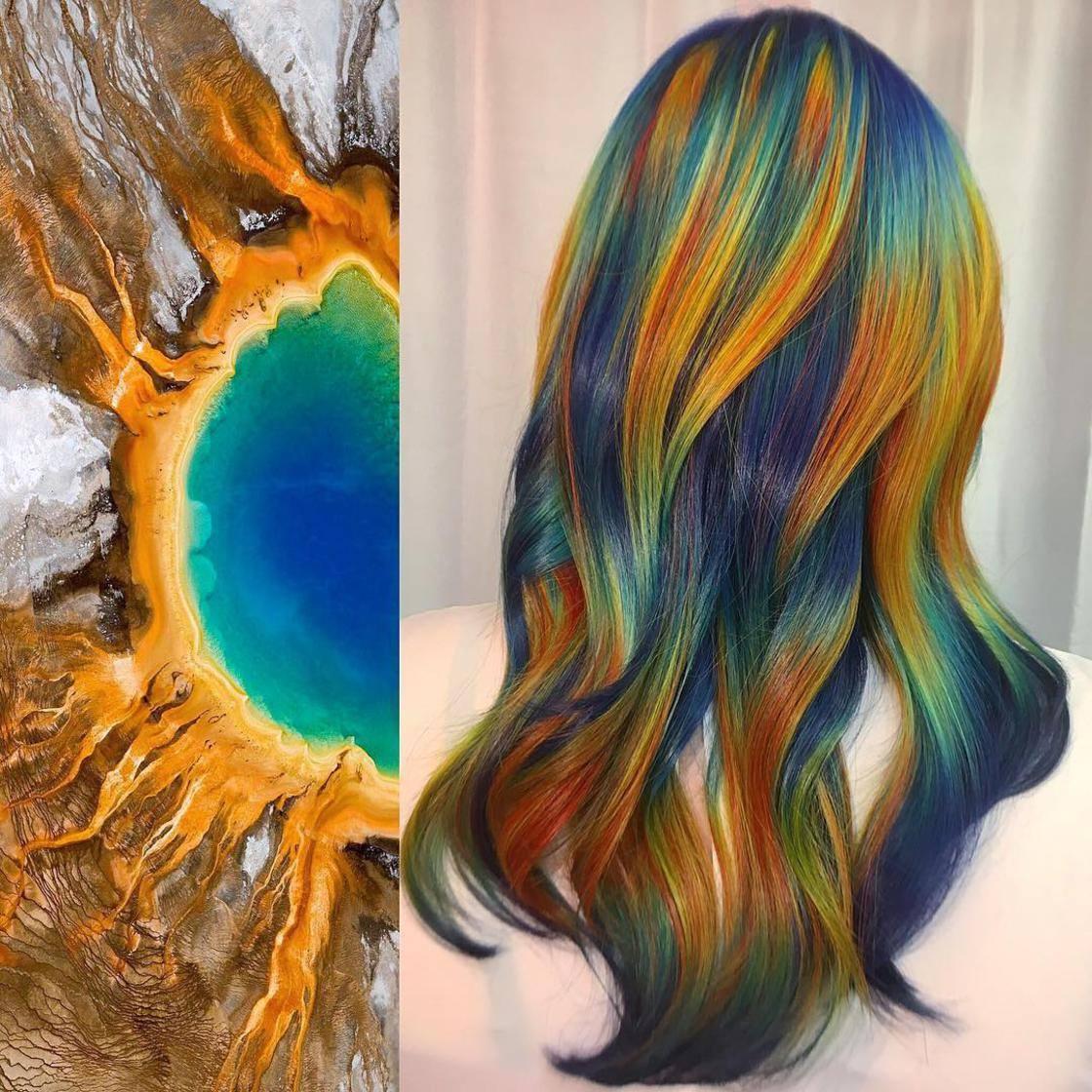Artista se inspira em imagens fantásticas para mudar a cor do cabelo 9