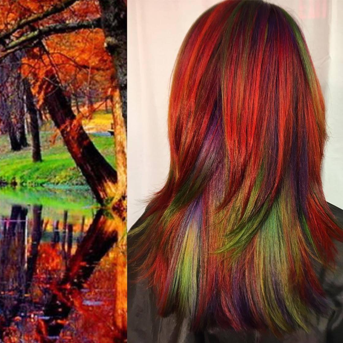 Artista se inspira em imagens fantásticas para mudar a cor do cabelo 10