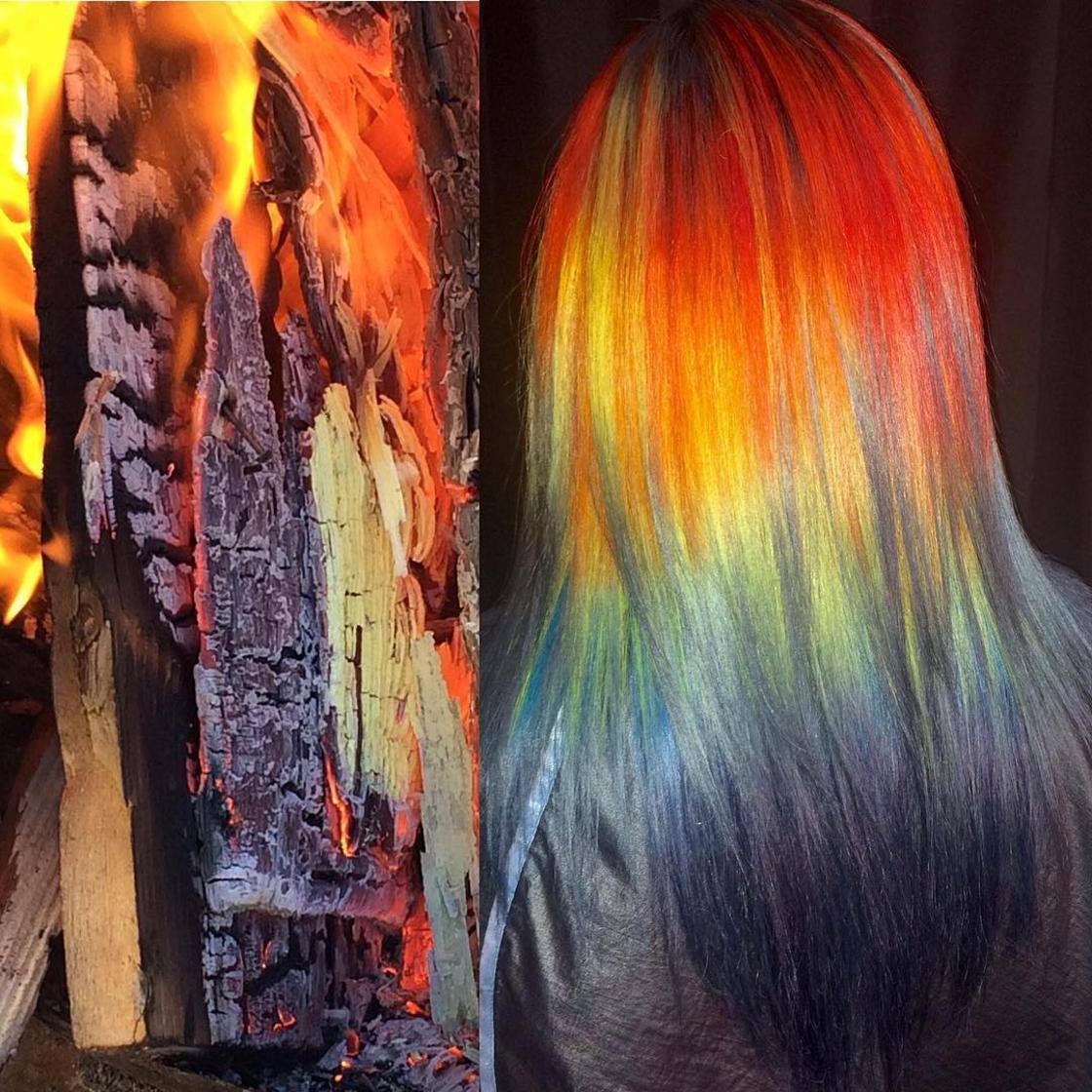 Artista se inspira em imagens fantásticas para mudar a cor do cabelo 12