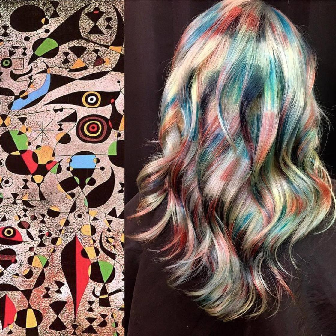 Artista se inspira em imagens fantásticas para mudar a cor do cabelo 14
