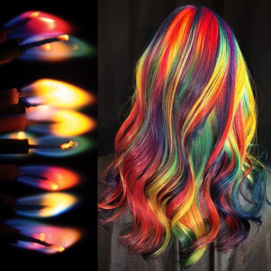 Artista se inspira em imagens fantásticas para mudar a cor do cabelo 15