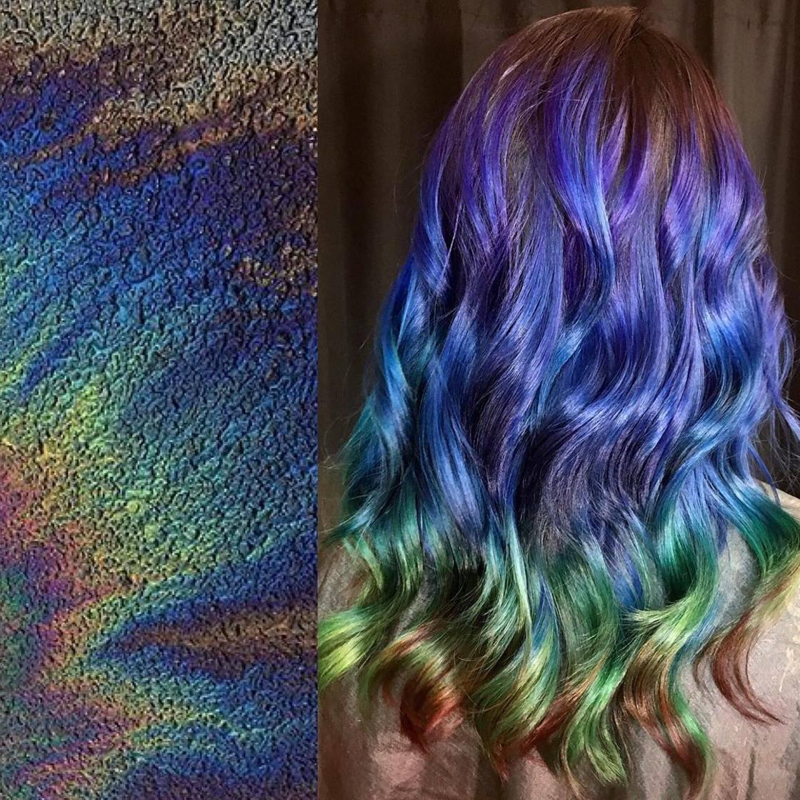Artista se inspira em imagens fantásticas para mudar a cor do cabelo 17