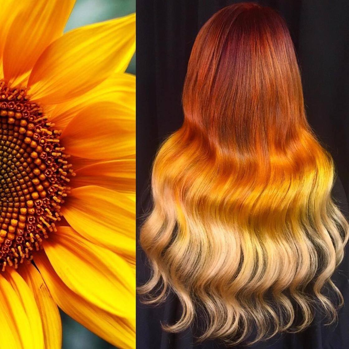 Artista se inspira em imagens fantásticas para mudar a cor do cabelo 18
