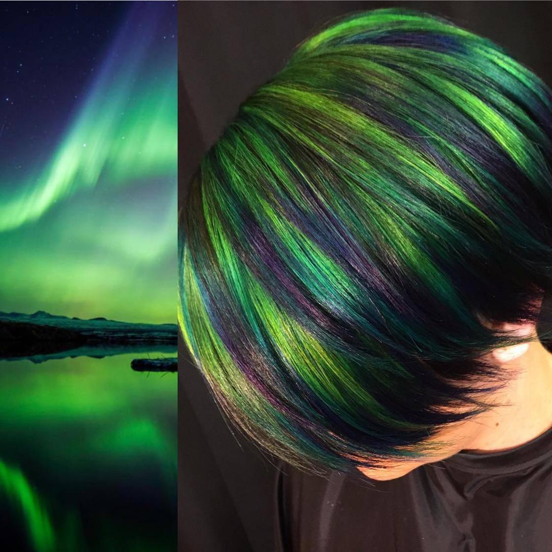 Artista se inspira em imagens fantásticas para mudar a cor do cabelo 19
