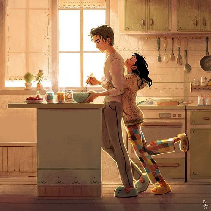 Ilustrações mostram que o amor está nas pequenas coisas (7)