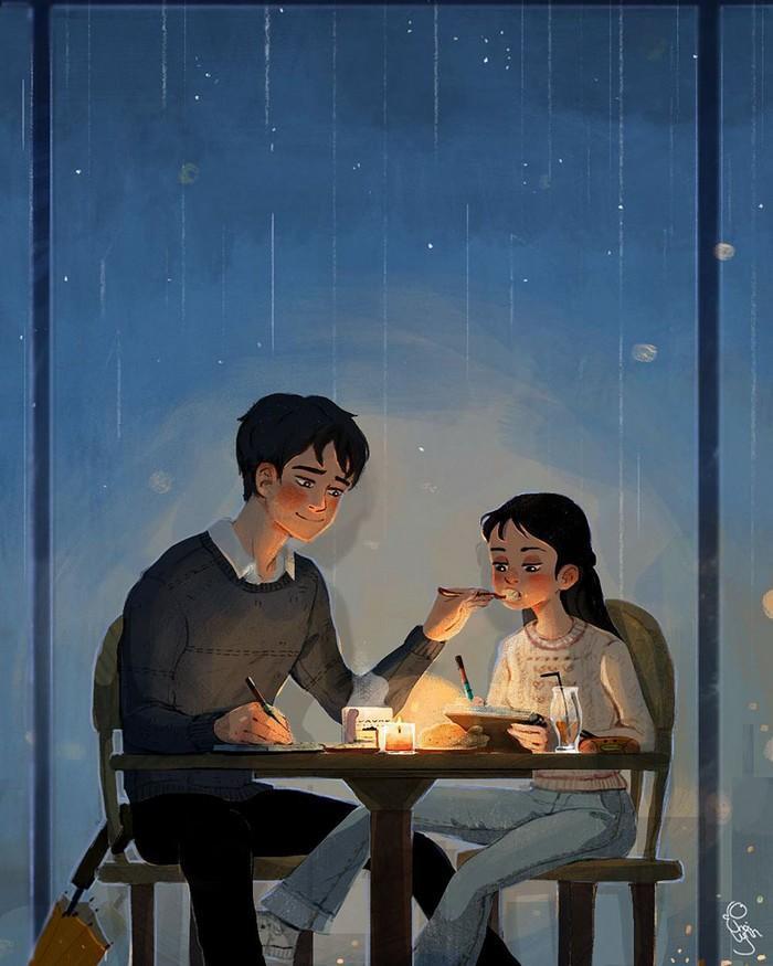 Ilustrações mostram que o amor está nas pequenas coisas (6)
