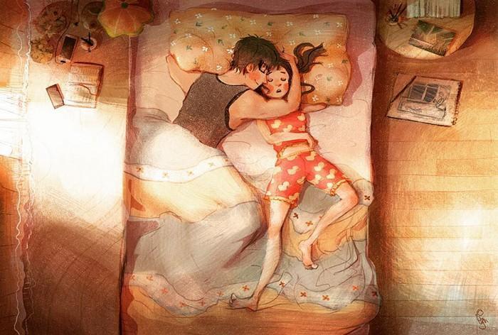 Ilustrações mostram que o amor está nas pequenas coisas (5)