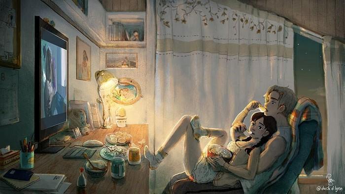 Ilustrações mostram que o amor está nas pequenas coisas (3)