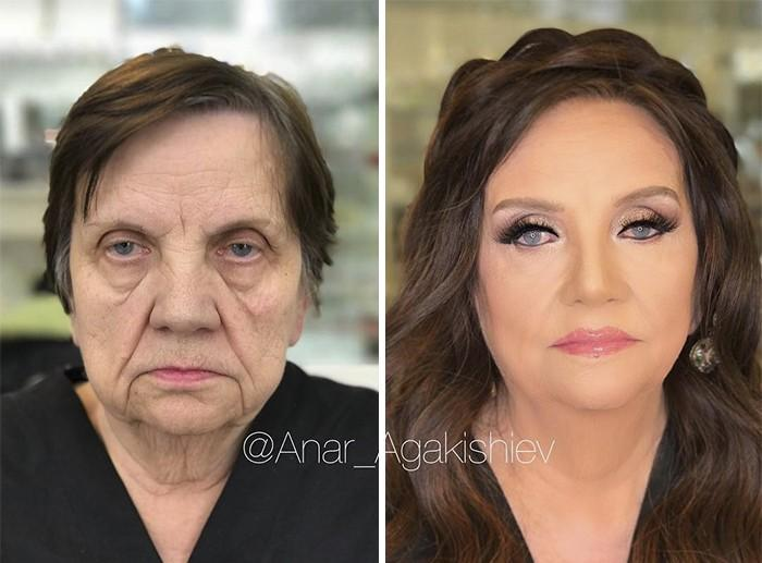 Maquiador mostra o poder da maquiagem em suas clientes idosas (8)