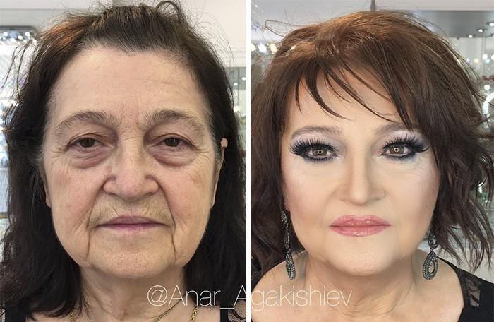 Maquiador mostra o poder da maquiagem em suas clientes idosas (7)