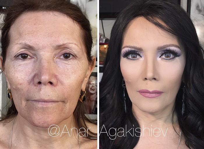Maquiador mostra o poder da maquiagem em suas clientes idosas (6)