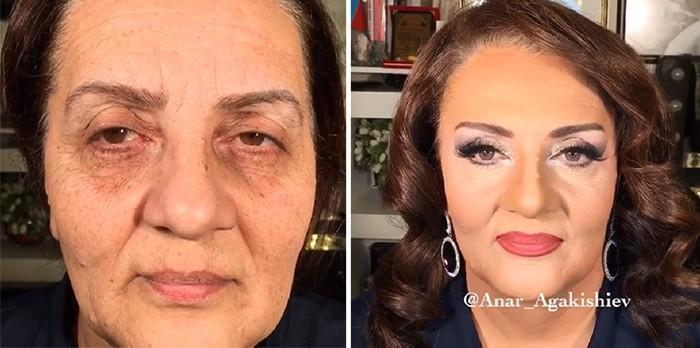 Maquiador mostra o poder da maquiagem em suas clientes idosas (3)